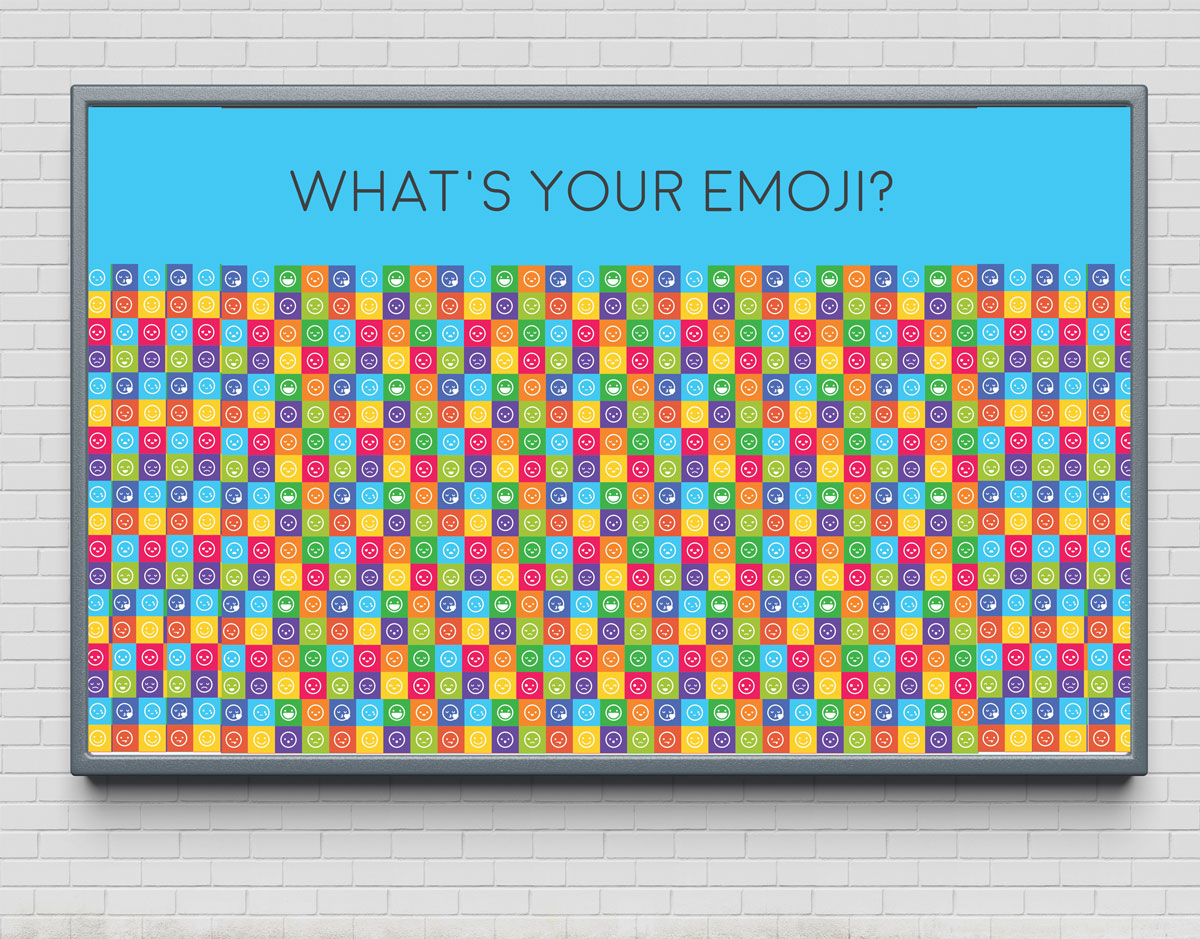What's Your Emoji button wall