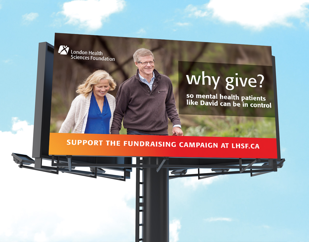 Why Give Billboard mockup.